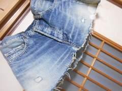 RNA*ダメージジーンズスカートS*クリックポスト164円