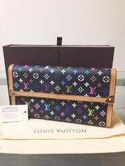 1円 ◆正規品◆ 超美品 ◆ ルイヴィトン マルチカラー 長財布 黒