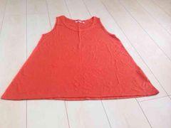 UNIQLOユニクロ   オレンジ色  タンクカットソー   XLサイズ