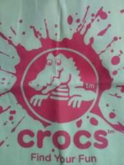 サンダル crocs クロックス ワニ デザイン 布製 エコバッグ BAG 袋 ホワイト