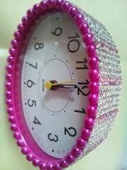 ピンク目覚まし時計◆