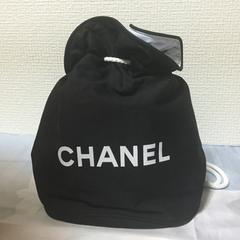 シャネル新品スポーツショルダーリュックバッグ黒白新作香水福袋