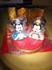 新品&未使用★ミッキー&ミニーの小さな雛人形