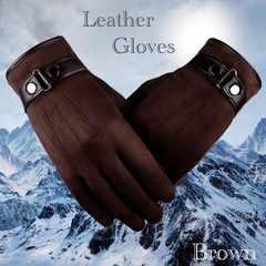 手袋 メンズ 革手袋 スエードレザー スマホ手袋 ブラウン