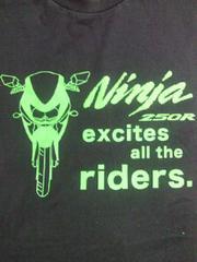 バイク カワサキ Kawasaki ニンジャ Ninja デザイン ユニクロ Tシャツ ブラック XLサイズ