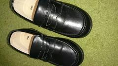 黒色フォーマル靴サイズ19中古送料無料