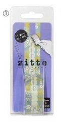 新品〈zitte〉ぺりぺりめくれるジッパー付テープ(小花)未開封
