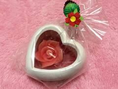 新品未使用タイ購入バラ薔薇ローズキャンドルハート型