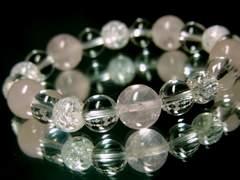 ローズクォーツ10ミリ§水晶§爆裂クラック8ミリ