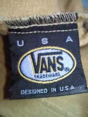 Vans ヴァンズ バンズ 半袖 シャツ ナチュラル シャツ Lサイズ カーキ色 麻 綿