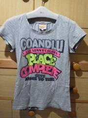 ココルル半袖Tシャツ☆ビニール調プリントがオシャレ送180円