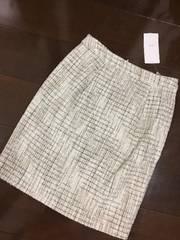 白黒☆新品&即決.Vis.ツィード生地上品なスカート/5,292円