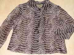刺繍模様*長袖ジャケット*個性的(ブラック系)