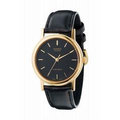 CASIOカシオ海外ユニセックス腕時計アナログレザーウォッチ黒