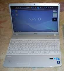 クリアホワイトVAIO Core i3-2.27GHz/640G/4G/Win10/ブルーレイ/地デジ_e55