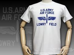 極厚 Tシャツ L フロッキー LOWRY FIELD ARMYエアフォース 白