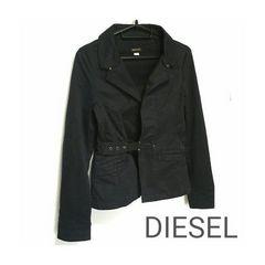 正規 DIESEL デザイン ジャケット 黒 ブラック ディーゼル XS