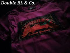 【Double RL & Co.】RRL Vintage Washed ショートスリーブTシャツ L/Purple