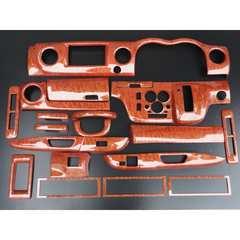 日産 E26 キャラバン NV350 3Dウッドパネル インテリアパネル 19P 茶木目