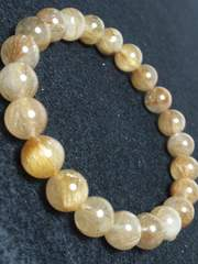 【天然石】◆金針ルチルクォーツ8�o玉◆ブレスレット◆数珠◆