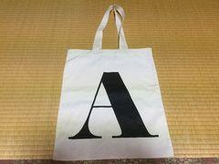 アルファベットバッグス☆トートバッグ☆イニシャルA☆白×黒