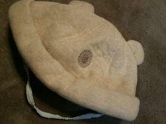 42-44新生児赤ちゃん用帽子くま耳付きゴム付きアニマルキャップ