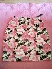 Oneway花柄ピンクタイトスカート新品タグ付