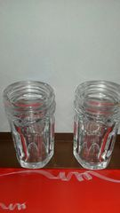 透明ガラス瓶二個/縦9.5約�p/横4.8約�p /重さ約一個約240�c
