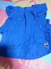 JENNIラブ・袖なしロゴトップス160ラメブルー