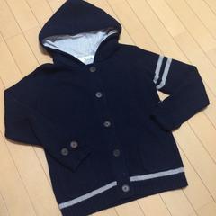 新品◆SM2◆ニットパーカージャケット◆ネイビー◆ウール100