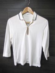 □EDIFICE/エディフィス 1B 7分袖 ポロシャツ/メンズ・38(S)