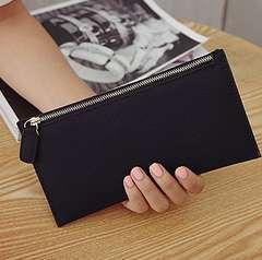 ◆ブラック 長財布 薄型財布◆レディース カード入れ サブ用財布