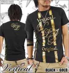 メール便送料無料【VERTICAL】Tシャツ70622新品黒金L