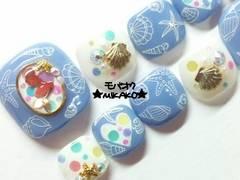 ★MIKAKO★人魚シェルヒトデ海モチーフフルペディ(38)