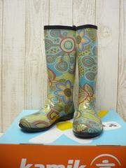 即決☆カミック レインブーツ ボヘミア GN/24cm カナダ製 長靴 新品
