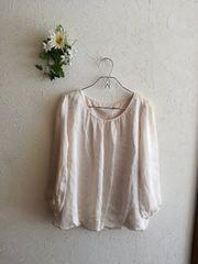 NATURAL BEAUTY BASIC ☆バルーン裾サテントップス