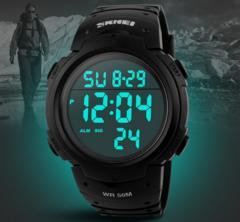 腕時計 メンズ 大きい文字盤 スポーツ 5気圧防水 デジタル表示