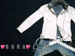 【LOUIS CHAVLON】2way♪ファー&ベルト付ライダーズジャケット