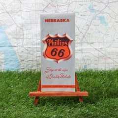 激レア【輸入地図】Nebraska/ネブラスカ州 -Phillips 66-
