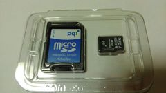 PQI製マイクロSDカード8GB/未使用品
