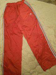 adidasアディダスジャージズボンL赤メンズレディース兼用パンツ