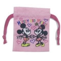 ディズニー【ミッキー&ミニー】可愛い♪洗面具.コスメ.小物入 刺繍巾着袋