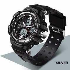 日本未発売 大人気ダイバーズウォッチ高級ブラックデジアナ防水腕時計Sショック