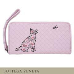 ボッテガヴェネタBOTTEGA VENETA刺繍ジップアラウント