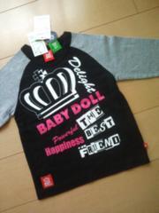 新品HappynessロンT110黒×ラズ★ベビドBABYDOLLベビードール