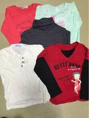 女の子130・長袖Tシャツ5枚セット