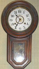 〜戦前頃名古屋商事製円形8日巻きぜんまい式振り子時計