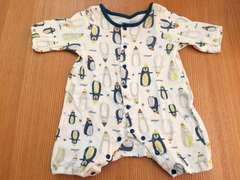 ペンギン柄☆ロンパース☆50-60☆タキヒョー☆男の子☆新生児