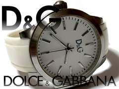 良品 1スタ★ドルガバ/D&G 大型フェースの美しいメンズ腕時計