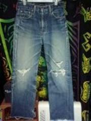 リーバイス502XXセルビッチダメージ色落ちジーンズ